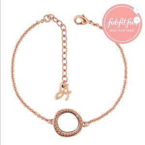 Adore Swarovski Circle Bracelet RoseGold FabFitFun